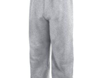 Plain GRAY SWEATPANTS comfortable with drawstring unisex grey sweat pants small medium large S M L men's woman's gym winter warm cozy sleep!