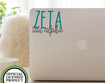 Vinyl Decal, GREEK, SORORITY, Zeta Tau Alpha, Font Fun