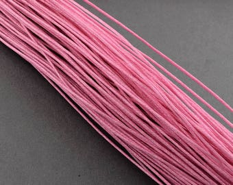 waxed cotton cord 0,7mm pink10m