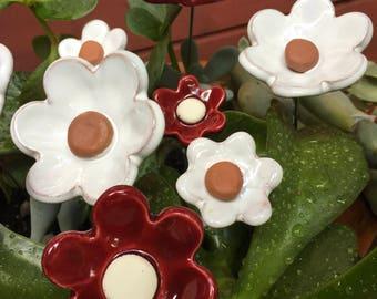 Flower ceramic and enamel in various colors