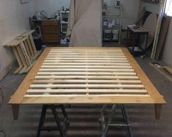 Contemporary platform bed