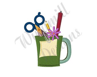 Desktop Pen Holder- Machine Embroidery Design