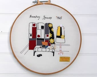 Bloomsbury Squares 1960 pdf Embroidery Pattern