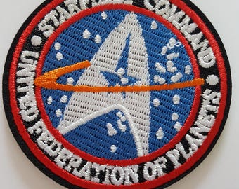 Star Trek Star Fleet Command Badge black and Blue star trek Iron On Patch Transfer Embroidered Patch