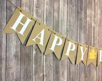 Happy Fall Y'all Banner, Autumn Banner, Fall Decor, Happy Fall Banner, Home Decor