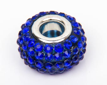 Bead style European o15 with blue crystals