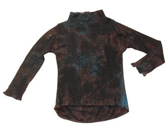 Issey Miyake : multicoloured wool tunic sweater, size M, vintage 80s Issey Miyake vintage female tops luxury sweater Made in Japan sweaters