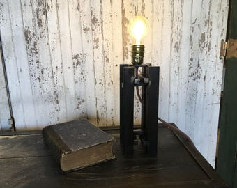 Raw steel industrial lamp