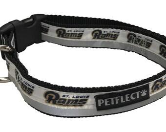 Los Angeles Rams Reflective Dog Collar