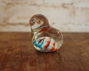 1970's Glass Chick Ornament