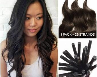 Hair extensions etsy wavy fusion i tip keratin hair extensions 100 remy human hair extensions pmusecretfo Gallery