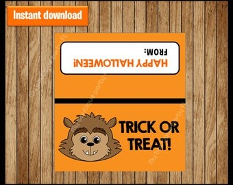 Werewolf Halloween Bag Toppers - Halloween Bag Labels - Halloween Treat Bags - Halloween Treat Tags