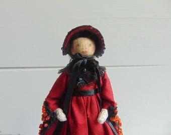 Bathsheba Everdene, Limited Edition Doll, Wooden Dolls, Peg Dolls, Unique Handmade Doll, Collectable Doll, Heirloom Doll by Litpegs