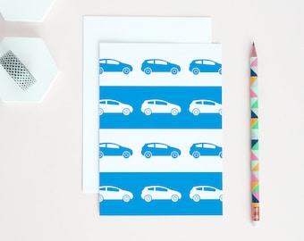 Cars Card | Driving Test Card | New Driver Card | Cars Birthday Card | Driving Card | Blue Cars Card