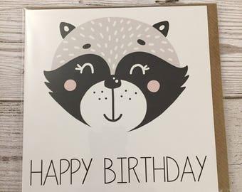 Happy birthday card  panda little ones birthday card