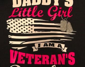 Veterans Daughter T shirt