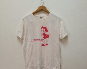 ON SALE 20% Vintage Astro Boy. T-shirt Sony Batteries Campaign Size M