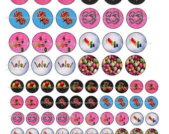 Series 76499-90 Images Digital sweets cabochons - sending by mail creations