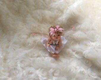 OOAK Polymer Clay Baby Fairy Elf Sculpt - Guaranteed to make you smile! - Handmade by Sue Radford