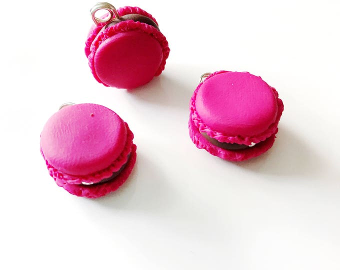 Macaroons, Miniature Food Jewelry, Handmade Polymer Clay Charm, Progress Keeper, Bracelet Charm