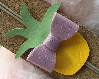 Custom Pineapple Leather Headband