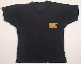 Vintage 80s motorcycle pocket t shirt 1986 bike week