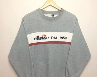 15% OFF Vintage ELLESSE Sweatshirt Big Logo Spell Out Embroidered Big Logo/Casual/Hooligan/Hip Hop/Fashion/Streetwear/Medium