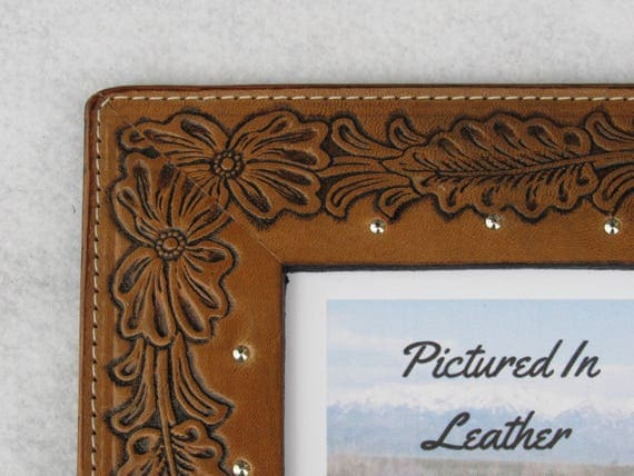 Leather Wedding Anniversary Gifts For Her: Leather Anniversary Gift, 4x6 Leather Photo Frame, 3rd