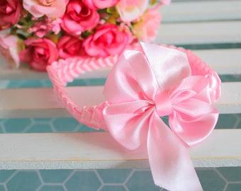 Headband for Newborn and Baby | Pink Headband | Satin Headband | Unique Headband