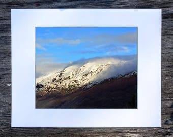 Denali, Alaska Mountainside (8x10 matted print)