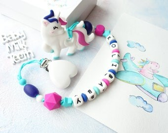 teether silicone unicorn toy for newborn necklace chew teething toy chew teether toy silicone necklace newborn teether teething necklace