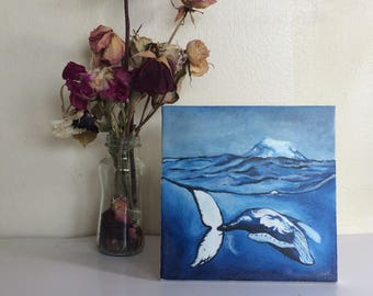 Humpback Whale Oil Painting