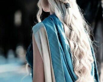 Daenerys Targaryen / Khaleesi / Game Of Thrones - Cosplay / Halloween - custom styled - Heat resistant synthetic lace front wig - Bespoke