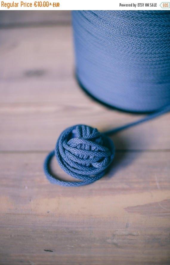 15 % OFF Blue yarn - macrame cord- crochet cord - polyester rope - macrame rope- crochet yarn- chunky yard- chunky cord- yarn- rope cord #20