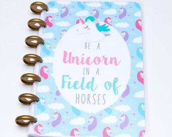 Mini Happy Planner Covers - Unicorn