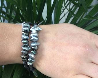 Tahitian Keshi Pearl Bracelet #3566