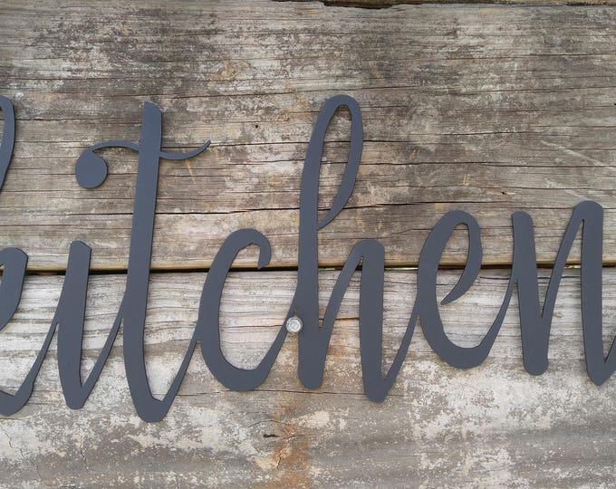 Metal Kitchen Signs, Farmhouse Wall Decor, Metal Words, Rustic Wall Decor, Kitchen Wall Signs, Kitchen Farmhouse Sign, Metal Word Wall Art,