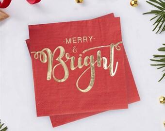Merry & Bright Christmas Napkins