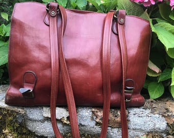 Texier great purse carry satchel style shoulder, lots of storage french vintage made in france