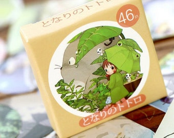 46 Pcs Totoro Planner Stickers Scrapbooking Stickers Funny Planner Stickers