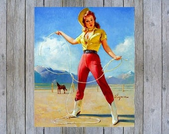Perfect Form - 1968 Gil Elvgren vintage pin up art poster print