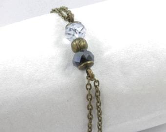Bracelet 3 finishes: bronze beads