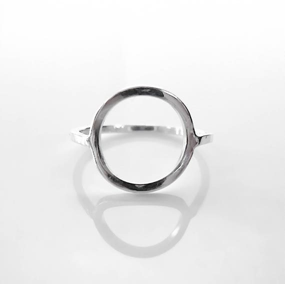 Silver Circle Ring / Open Circle Ring / Open Ring / Circle Ring /  Minimalist Ring / Open Silver Circle / Womens Open Ring / Open Circle