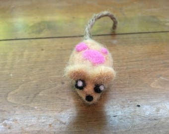 Felted Mouse Rat Toy (1)