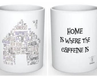 EmsiLou HOME Typography MUG (personalised)