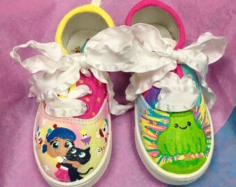 True and the rainbow kingdom party Personalized kids shoes!