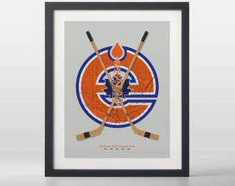 Edmonton Oilers-inspired Hockey Art Print