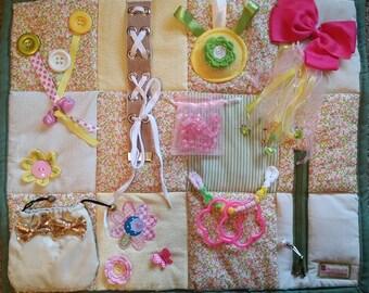 Fidget Blanket with many activities