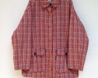 Sale Vintage 90s Polo Club Knitted Style Grunge Style Wool Jacket