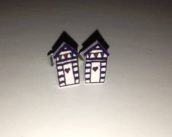 Handmade beach hut studs